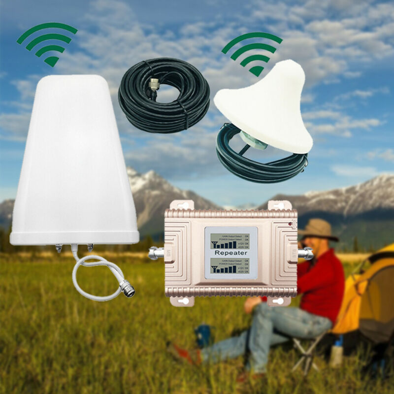 CDMA/PCS 850/1900MHz Dual Band Cell Phone Signal Booster Amplifier Repeater 2-4G