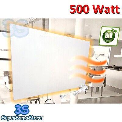 3S PANELLO CALORIFERO BIANCO RAGGI INFRAROSSI 500 Watt RISCALDAMENTO ELETTRICO