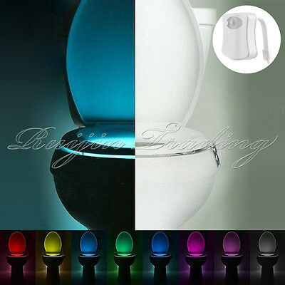 8 Colors Magic Sensor Motion Activated LED Night Light Toilet Seat Lighting Lamp