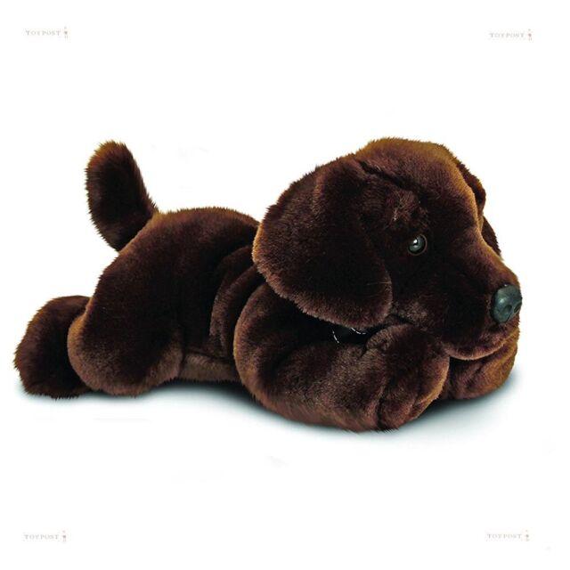 Chocolate Labrador Plush Toy Dog 'Harley' - 35cm - Keel Toys