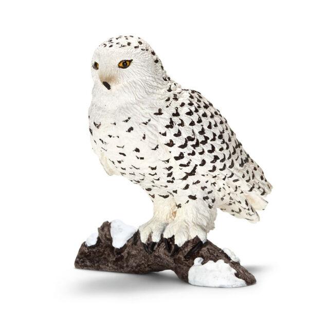 Schleich 14671 Snowy Owl (World of Nature - Wild Life) Plastic Figure