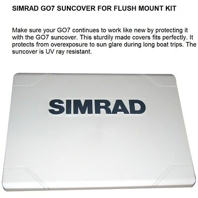 SIMRAD GO7 SUNCOVER FOR FLUSH MOUNT KIT: Protects From Overexposure To Sun Glare