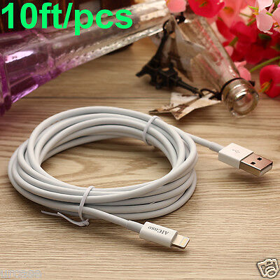 10ft Cable Apple Certified MFI Lightning Sync Data Cord Charger fr iPhone 7 Plus