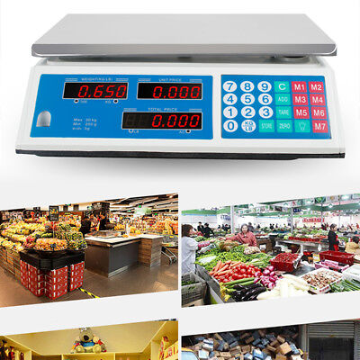 30kg Digital Weight Scale Price Computing Meat Produce Store Market 110v Sale