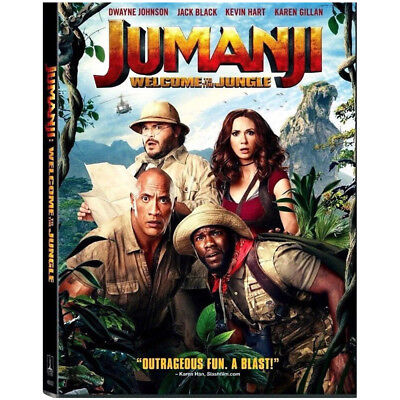 Jumanji  Welcome To The Jungle  Dvd 2018  New Free Fast Shipping Us Seller