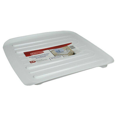 Rubbermaid Antimicrobial Small Dish - Rubbermaid 1180-MA-WHT Microban Antimicrobial Dish Drain Board, Small, White