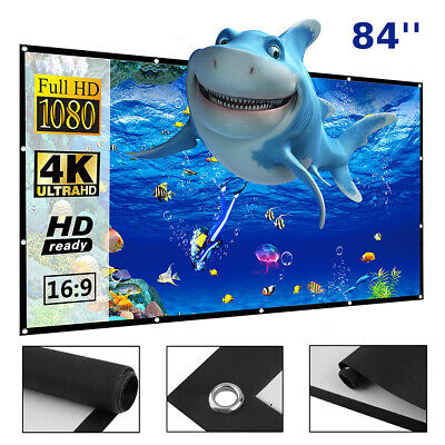 4K Ultra HD 1080P Movie 16:9 Projector Screen Projection Home Theater Cinema LK