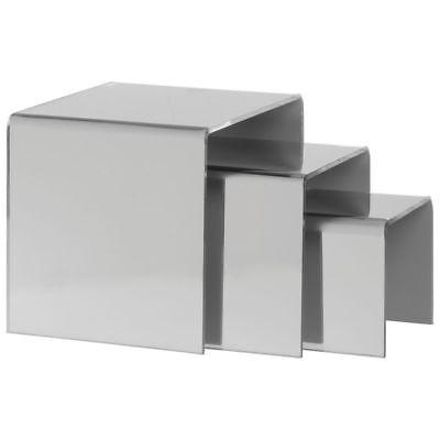 Mirrored Acrylic Display Riser Set Of 3 99285