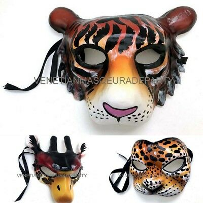 Halloween Giraffe Leopard Tiger mask mens boys Animation Cosplay Party - Tiger Halloween Mask