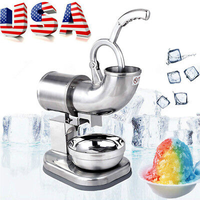 Commercial Ice Shaver Machine Snow Cone Maker Shaved Ice Electric Crusher W220
