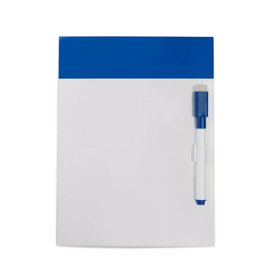 MAGNETIC WHITE BOARD & PEN - Drywipe WHITEBOARD FRIDGE KITCHEN MEMO NOTICE BOARD