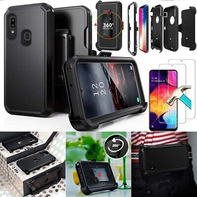 Rugged Hard Armor Phone Case Clip Holster Fit Otterbox Defender+Screen Protector