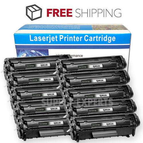 10PK Black Laser Toner Cartridge for HP Q2612A 12A Laserjet 3020 3030 3050 3052