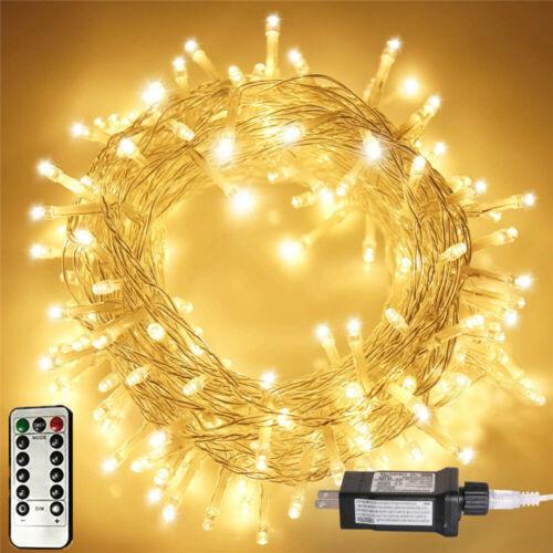 200 LED 72ft Fairy String Lights Waterproof Outdoor Garden Lamp Decor US Plug US Home & Garden