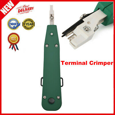 Terminal Crimper Non-insulated Alloy Steel Wire Cable Crimping Pliers 180mm Us
