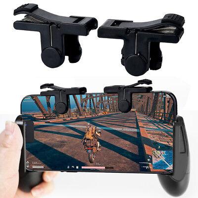 Gaming Joystick Handle Holder Controller Phone Holder+ Shooter For PUBG Black F