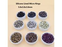 500Pcs Pack Silicone Lined Nano and Micro Ring Beads Available