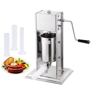 3L Sausage Stuffer Filler Meat Maker Machine Stainless Steel 8LB Dual Speed New - FREE SHIPPING