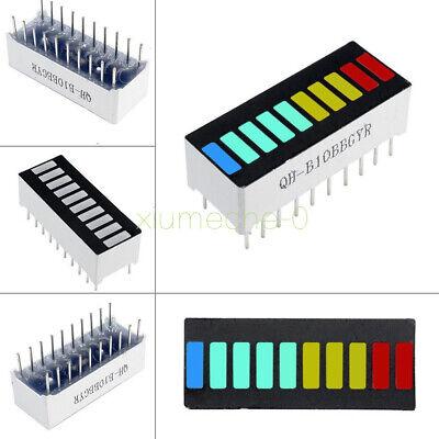 2pcs 10 Segment Led Bargraph Light Display Red Yellow Green Blue