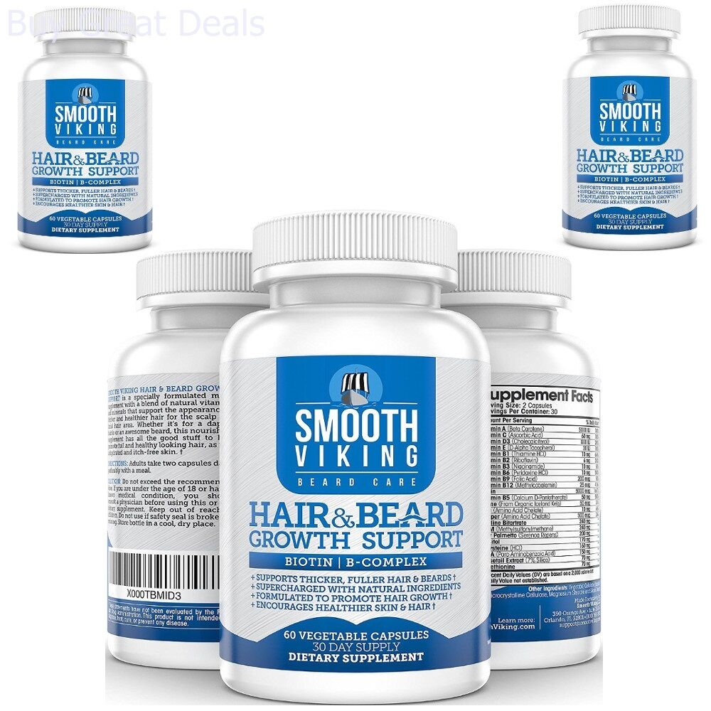 Hair Growth Vitamins >> Details About Men S Hair Growth Vitamins 1 Month Supply Hair Loss Treatment And Beard Support