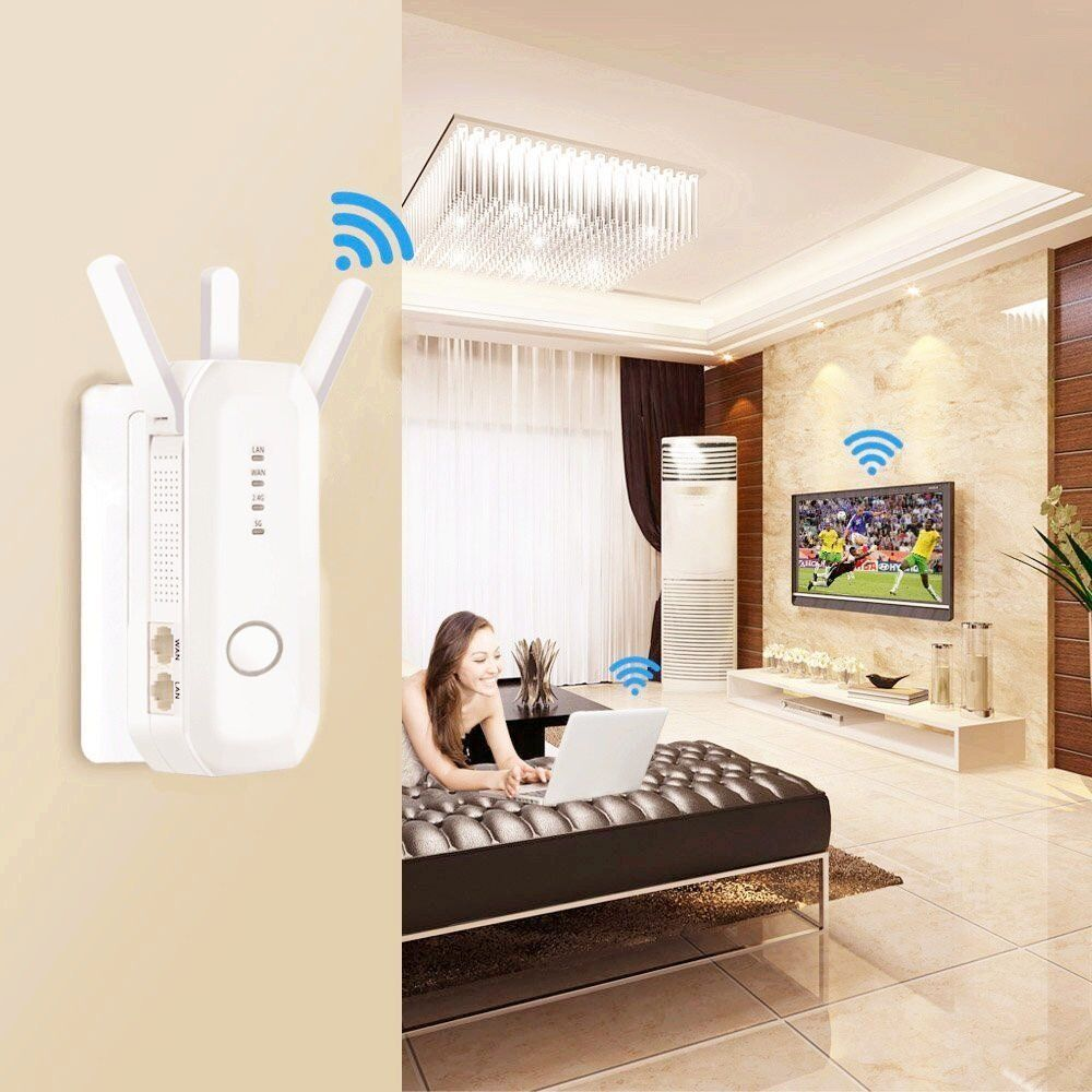 AC 750Mbps 2.4G/5.8G Dual Band WiFi Range Extender Wireless