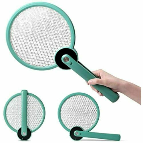 Electric Bug Zapper Fly Swatter Mosquito Killer, 2 In 1 Foldable USB Insect With