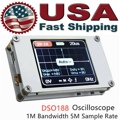 Dso188 Portable 1.8 Inch 1ch Digital Oscilloscope 1mhz Bandwidth 5m Sample Rate