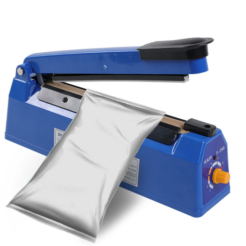 "8""/12"" Heat Sealing Hand Impulse Sealer Machine Poly Free Element Plastic Sealer"