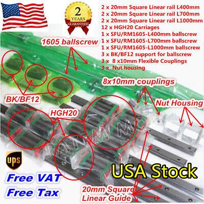 Usaw-20mm Cnc Linear Guide Railhgh20casfu1605 Ballscrew L-4007001000mmnut