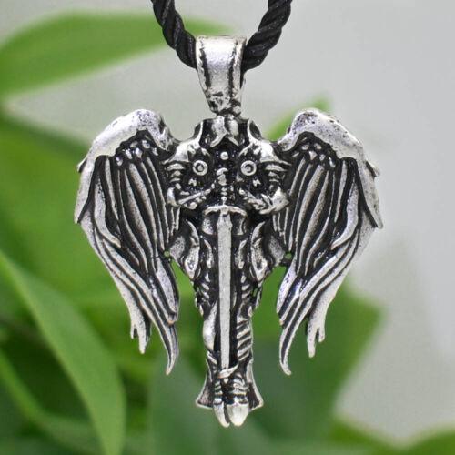 Patron Saint St Michael Archangel Irish Celtic Cross Talisman Pendant Necklace