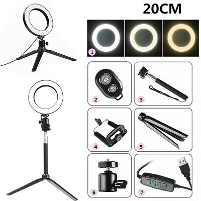 8'' LED Ring Light Kit With Stand Dimmable 5500K Selfie For Camera Makeup Phone - Light Rings