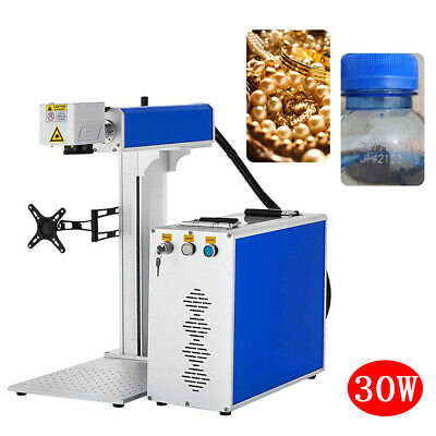 30w Split Fiber Laser Marking Engraving Machine Rotary Axis Included Fda Ce