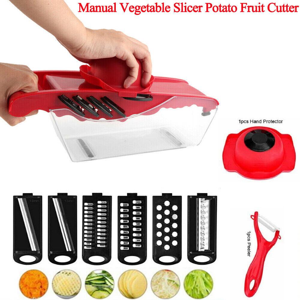 Manual Vegetable Slicer Potato Fruit Cutter Stainless Steel