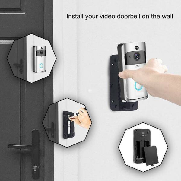 Wireless Doorbell Camera WiFi Remote Video Door Alarm IR