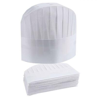 Chef Hats 24-pack Disposable White Paper Toques Supplies...