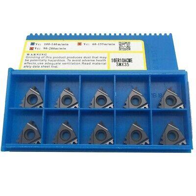 10pcs 16er 10acme Smx35 Threading Milling Carbide Cutting Lathe Tool Ser Holder