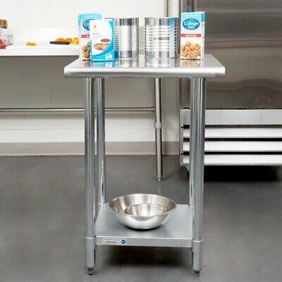 24 X 24 18 Gauge Stainless Steel Work Table Adjustable Undershelf Restaurant