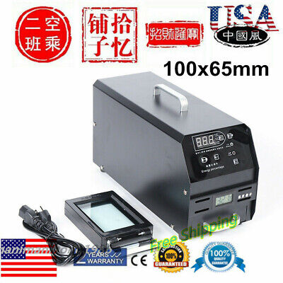 Automatic Flash Stamp Photosensitive Seal Machine 100x65mm Stamping Area Emboss