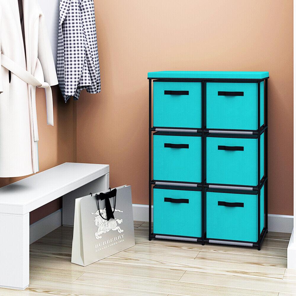 Storage Shelf 6 Drawers Rack Foldable Toy Organizer with Sto