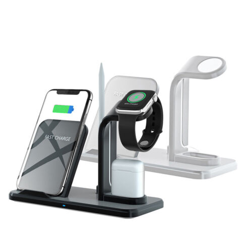 3 In 1 Qi Wireless Charger Dock Stand For iWatch 5/4/3/2/1 A