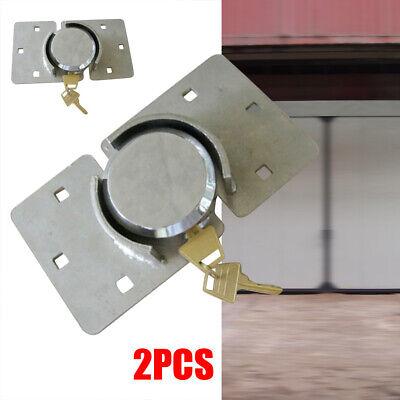 New 2 Pack 73mm Van Garage Shed Door Gate Lock Shackle Padlock Set Steel