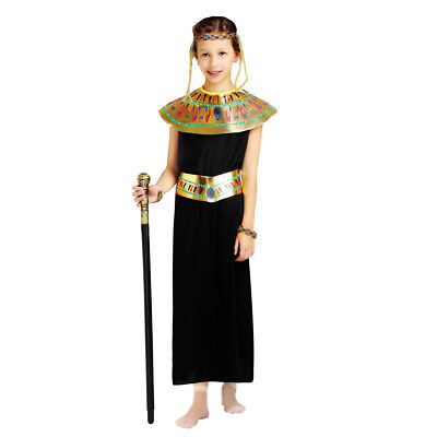 Girl's Egyptian Black Princess Dress Up kids Costume Cosplay Halloween - Dress Up Egyptian Girl