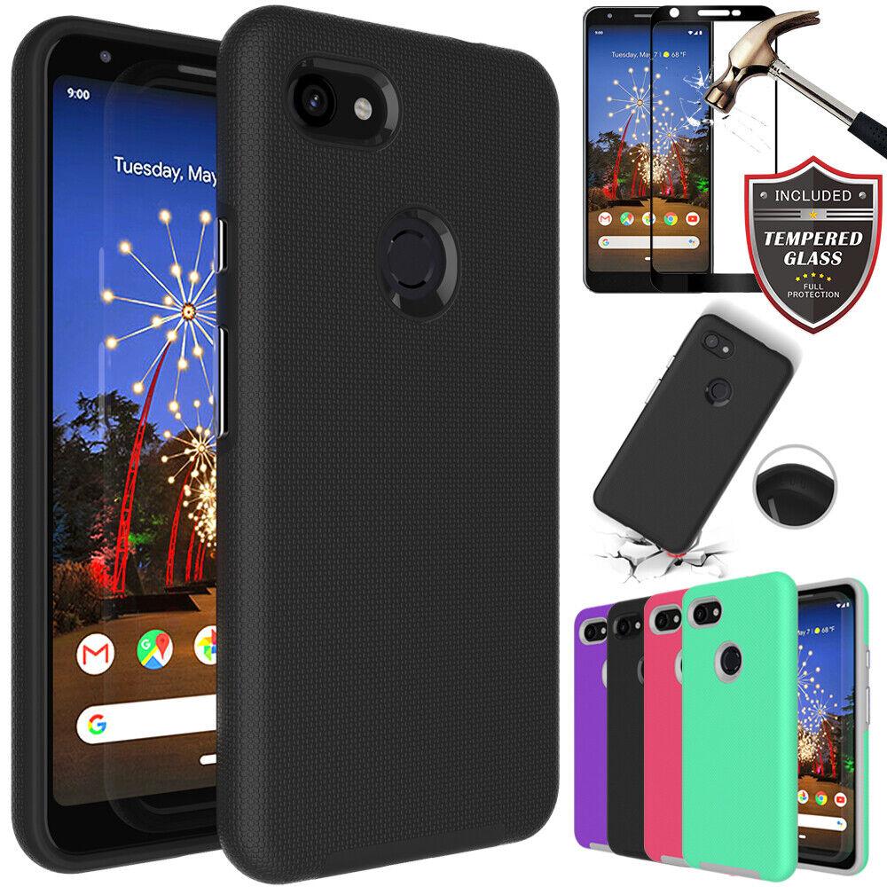 For Google Pixel 3A 3 2 XL Hybrid Hard Slim Shockproof Case