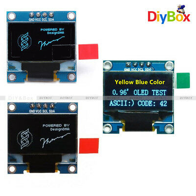 0.96 I2c Iic Serial 128x64 Oled Lcd Led Display Module Ssd1306 Gnd For Arduino