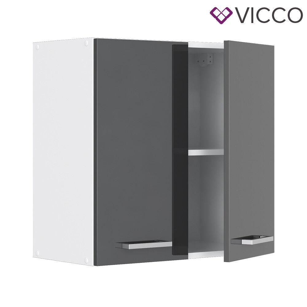 VICCO Küchenschrank Hängeschrank Unterschrank Küchenzeile R-Line Hängeschrank 60 cm anthrazit