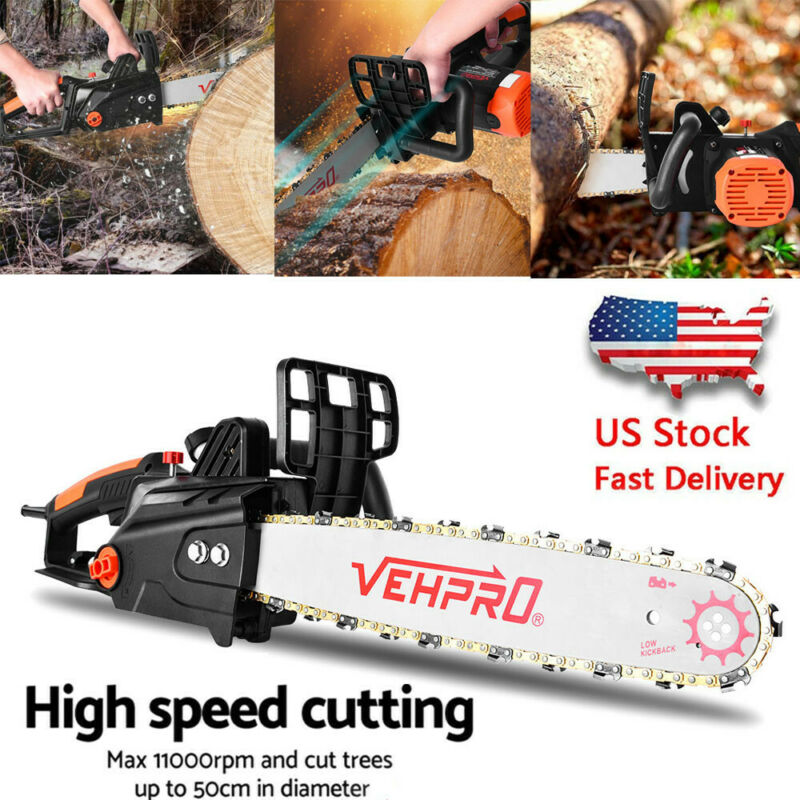 VEHPRO Electric Chainsaw, 16-Inch Corded, Powerful 15-AMP Co