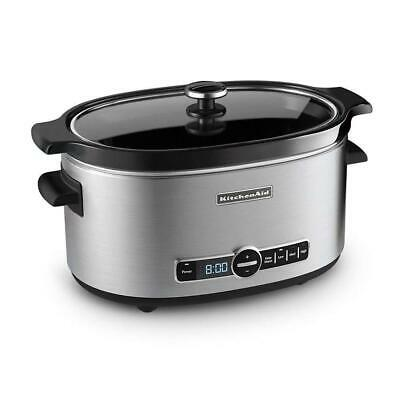 KitchenAid KSC6223SS 6-Quart Slow Cooker with Solid Glass Lid