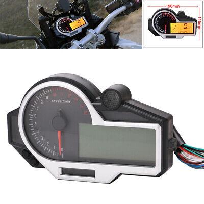 Motorcycle LCD N1-6Digital Speedometer Odometer Instrument Gauge Sensor Mph Km/h