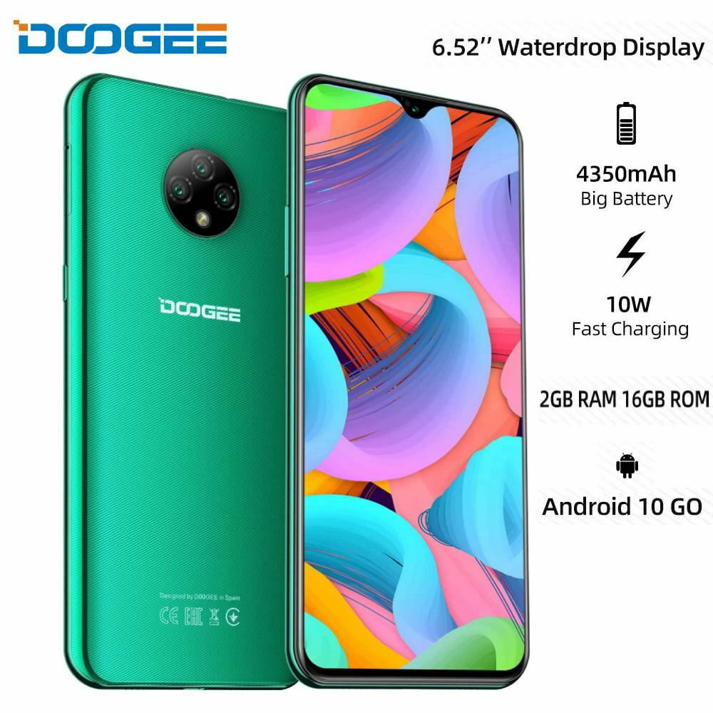 Android Phone - DOOGEE 4G LTE 6,52 Android 10 Smart phone Unlocked Mobile Phone 16GB 4350mAh X95