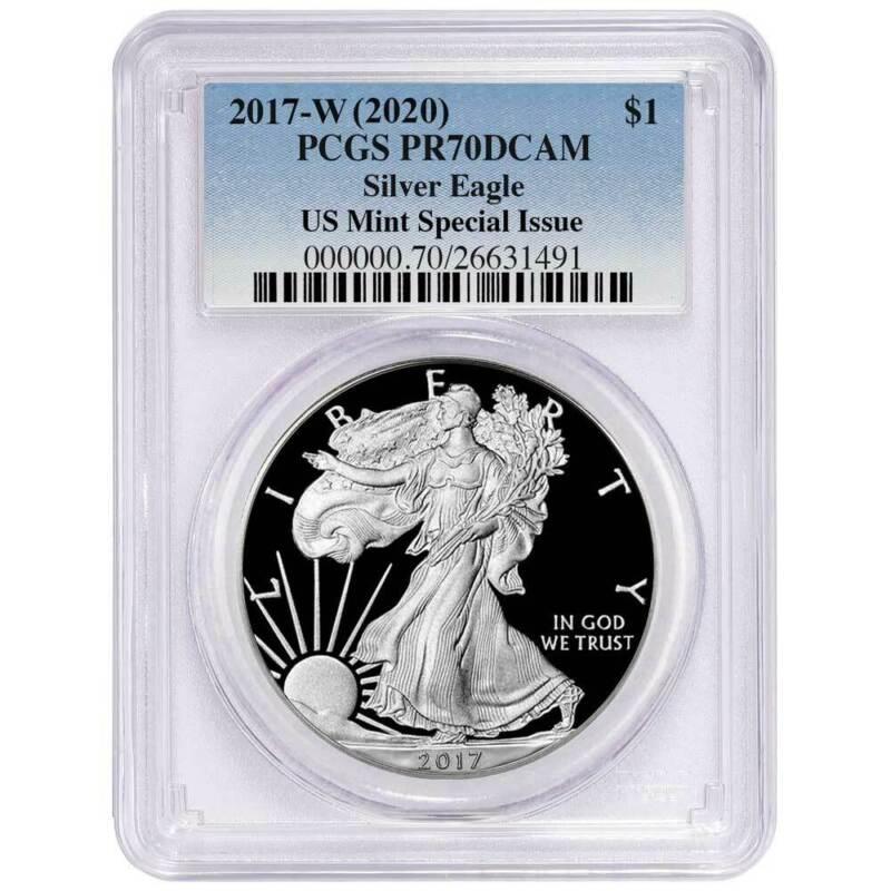 Presale - 2017-W (2020)  Proof $1 American Silver Eagle PCGS PR70DCAM US Mint Sp